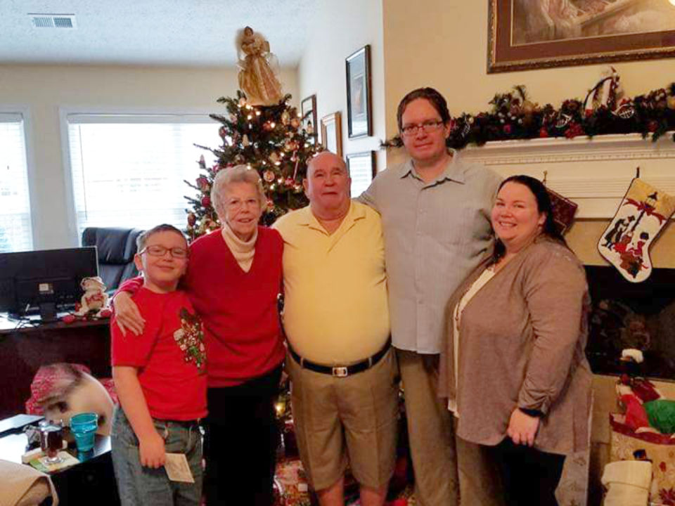 Stella Clapp and family Christmas