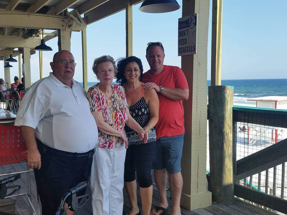 Stella Clapp and family at beach